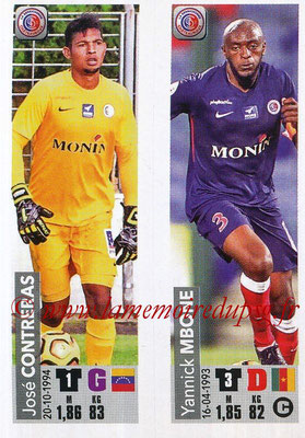 2018-19 - Panini Ligue 1 Stickers - N° 526 - José CONTRERAS + Yannick MBONE (LB Chateauroux)