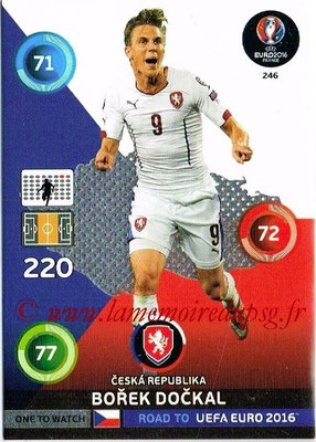 Panini Road to Euro 2016 Cards - N° 246 - Borek DOCKAL (République Tchèque) (One to Watch)