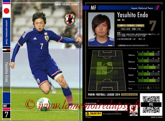 Panini Football League 2014 - PFL06W - N° 014 - Yasuhito ENDO (Japon)