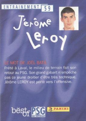 N° 059 - Jerome LEROY (Verso)