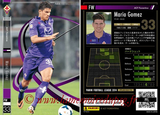Panini Football League 2014 - PFL08 - N° 033 - Mario GOMEZ (Fiorentina) (Star)