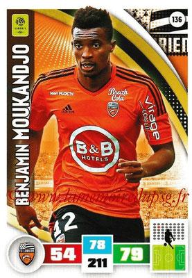2016-17 - Panini Adrenalyn XL Ligue 1 - N° 136 - Benjamin MOUKANDJO (Lorient)
