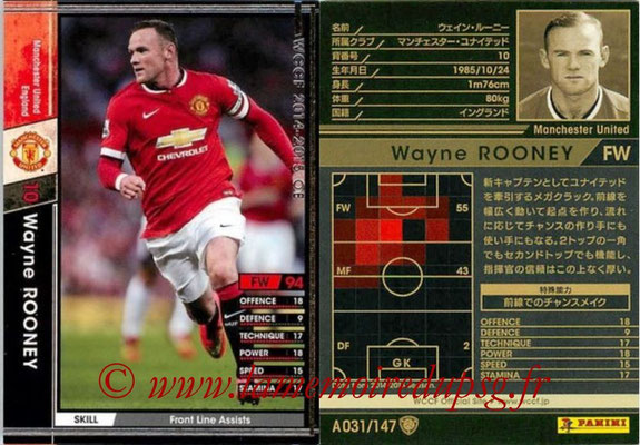 2014-15 - WCCF - N° A031 - Wayne ROONEY (Manchester United FC)