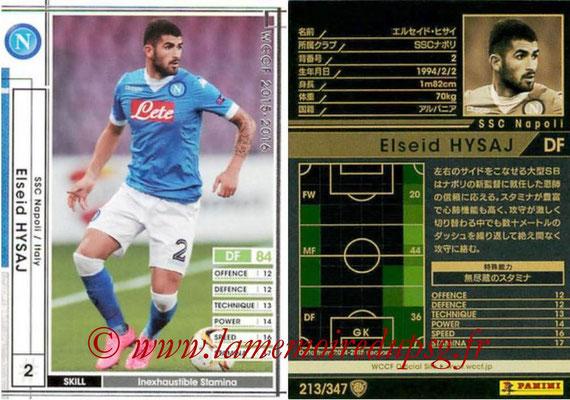 2015-16 - Panini WCCF - N° 213 - Elseid HYSAJ (SSC Napoli)
