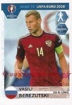 Panini Road to Euro 2016 Stickers - N° 258 - Vasili BEREZUTSKI (Russie)