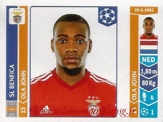 2014-15 - Panini Champions League N° 188 - Ola JOHN (SL Benfica)