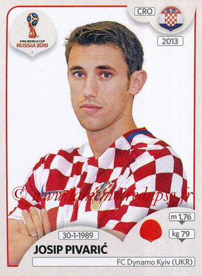 2018 - Panini FIFA World Cup Russia Stickers - N° 319 - Josip PIVARIC (Croatie)