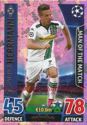 2015-16 - Topps UEFA Champions League Match Attax - N° 481 - Patrick HERMANN ( (VfL Borussia Mönchenglabach) (Man of the Match)