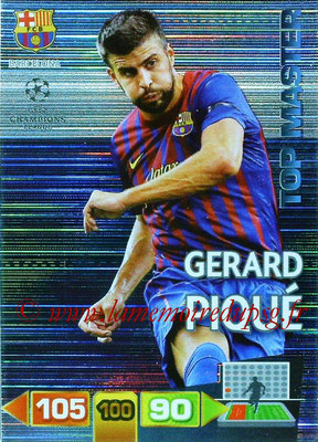 2011-12 - Panini Champions League Cards - N° 351 - Gérard PIQUE (FC Barcelone) (Top Master)