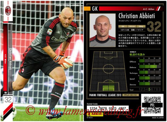 Panini Football League 2013 - PFL01 - N° 001 - Christian Abbiati ( A.C. Milan )