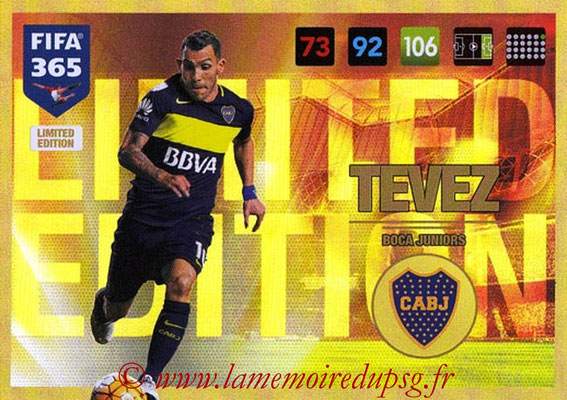 2016-17 - Panini Adrenalyn XL FIFA 365 - N° LE01 - Carlos TEVEZ (CA Boca Juniors) (Limited Edition)