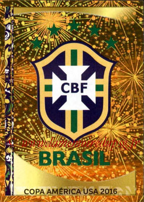 Panini Copa America Centenario USA 2016 Stickers - N° 110 - Logo Brésil
