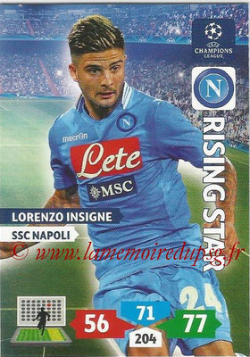 2013-14 - Adrenalyn XL champions League N° 198 - Lorenzo INSIGNE (SSC Napoli) (Rising Star)