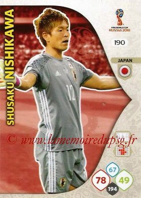 2018 - Panini FIFA World Cup Russia Adrenalyn XL - N° 190 - Shusaku NISHIKAWA (Japon)