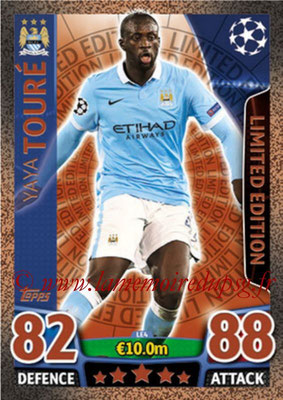 2015-16 - Topps UEFA Champions League Match Attax - N° LE4 - Yaya TOURE (Manchester City FC) (Limited Edition Bronze)