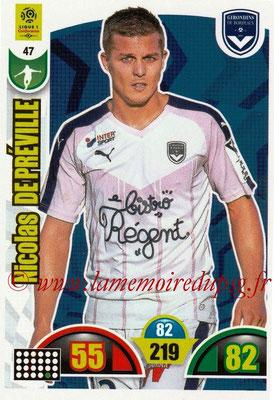 2018-19 - Panini Adrenalyn XL Ligue 1 - N° 047 - Nicolas DE PREVILLE (Bordeaux)