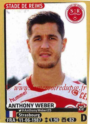 2015-16 - Panini Ligue 1 Stickers - N° 371 - Anthony WEBER (Stade de Reims)