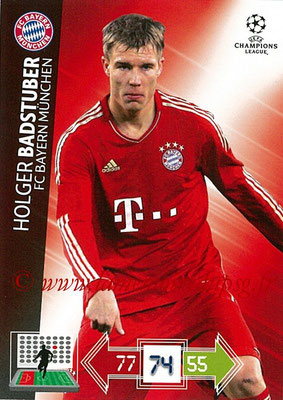 2012-13 - Adrenalyn XL champions League N° 046 - Holger BADSTUBER (FC Bayern Munich)