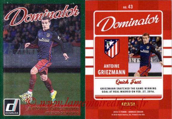 2016 - Panini Donruss Cards - N° D43 - Antoine GRIEZMANN (Atletico de Madrid) (Dominator)