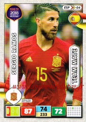 2018 - Panini Road to FIFA World Cup Russia Adrenalyn XL - N° ESP04 - Sergio RAMOS (Espagne)