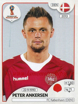 2018 - Panini FIFA World Cup Russia Stickers - N° 261 - Peter ANKERSEN (Danemark)