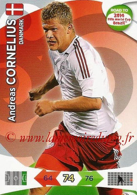 2014 - Panini Road to FIFA World Cup Brazil Adrenalyn XL - N° 045 - Andreas CORNELIUS (Danemark)