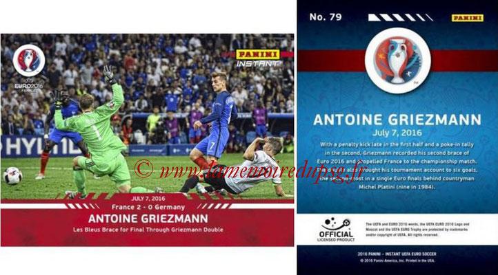 Panini Instant Euro 2016 - N° 079 - Antoine GRIEZMANN