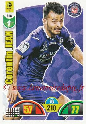 2018-19 - Panini Adrenalyn XL Ligue 1 - N° 358 - Corentin JEAN (Toulouse)