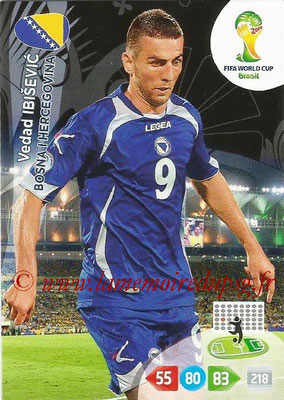 2014 - Panini FIFA World Cup Brazil Adrenalyn XL - N° 045 - Vedad IBISEVIC (Bosnie-Herzegovine)