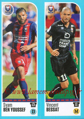 2016-17 - Panini Ligue 1 Stickers - N° 138 + 139 - Syam BEN YOUSSEF + Vincent BESSAT (Caen)