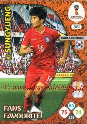 2018 - Panini FIFA World Cup Russia Adrenalyn XL - N° 381 - Ki SUNG-YUENG (Corée du Sud) (Fans' Favourite)