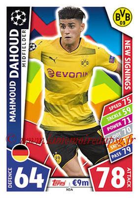 2017-18 - Topps UEFA Champions League Match Attax - N° NS04 - Mahmoud DAHOUD (Borussia Dortmund) (New Signings)