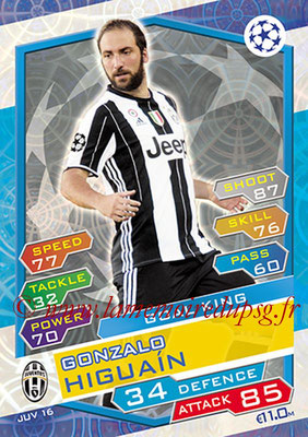 2016-17 - Topps UEFA Champions League Match Attax - N° JUV16 - Gonzalo HIGUAIN (Juventus FC) (Goal King)