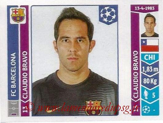 2014-15 - Panini Champions League N° 417 - Claudio BRAVO (FC Barcelone)
