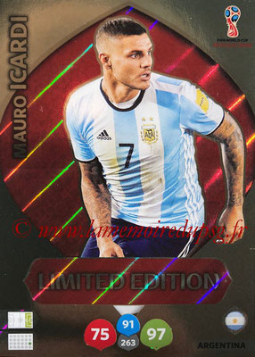 2018 - Panini FIFA World Cup Russia Adrenalyn XL - N° LE-MI - Mauro ICARDI (Argentine) (Limited Edition)