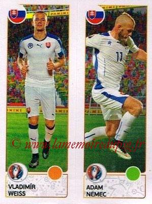 Panini Euro 2016 Stickers - N° 212 - Vladimir WEISS + Adam NEMEC (Slovénie)