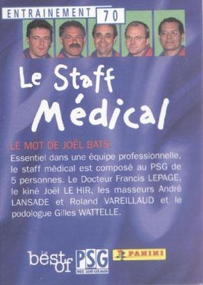 N° 070 - Le staff médical (Verso)