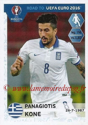 Panini Road to Euro 2016 Stickers - N° 123 - Panagiotis KONE (Grèce)