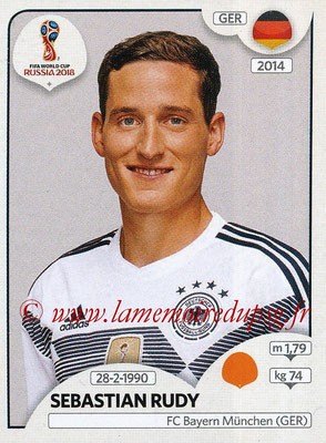 2018 - Panini FIFA World Cup Russia Stickers - N° 445 - Sebastian RUDY (Allemagne)