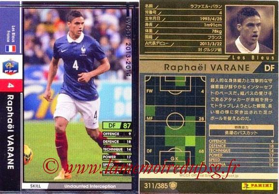2013-14 - WCCF - N° 311 - Raphael VARANE (France)