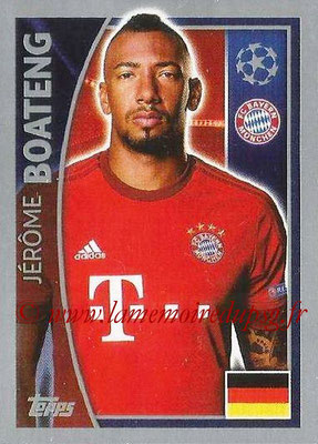 2015-16 - Topps UEFA Champions League Stickers - N° 380 - Jérôme BOATENG (FC Bayern Munich)