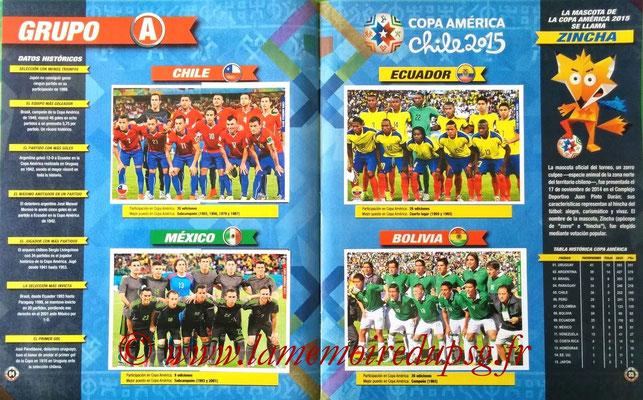 Navarette Copa America Chile 2015 Stickers - Pages 04 et 05 - Groupe A
