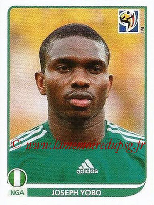2010 - Panini FIFA World Cup South Africa Stickers - N° 128 - Joseph YOBO (Nigeria)