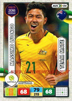 2018 - Panini Road to FIFA World Cup Russia Adrenalyn XL - N° AUS04 - Massimo LUONGO (Australie)