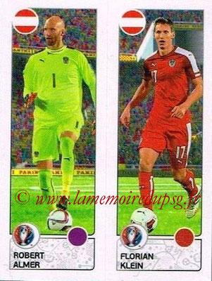Panini Euro 2016 Stickers - N° 650 - Robert ALMER + Florian KLEIN (Autriche)