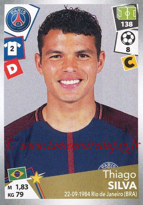 2017-18 - Panini Ligue 1 Stickers - N° 372 - Thiago SILVA (Paris Saint-Germain)
