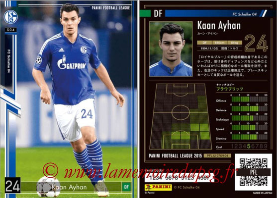 Panini Football League 2015 - PFL12 - N° 076 - Kaan AYHAN (FC Schalke 04)