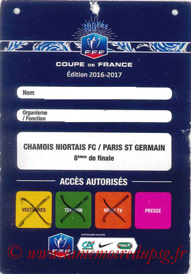 Badge Presse  Niort-PSG  2016-17