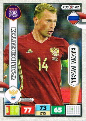 2018 - Panini Road to FIFA World Cup Russia Adrenalyn XL - N° RUS02 - Vasili BEREZUTSKI (Russie)
