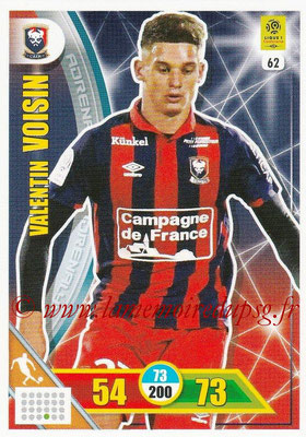 2017-18 - Panini Adrenalyn XL Ligue 1 - N° 062 - Valentin VOISIN (Caen)
